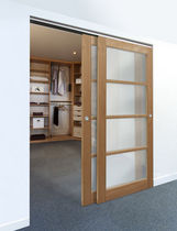 wooden double sliding door  Proboporte