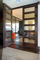 wooden double swing interior door  Panda Windows & Doors