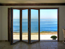 wooden fold-and-slide patio door S 62 Panda Windows & Doors