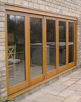 wooden fold-and-slide patio door KUSTOMFOLD Kloeber