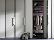 wooden folding door for walk-in wardrobe  Raumplus