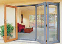 wooden folding patio door  Western Red Cedar Export Association