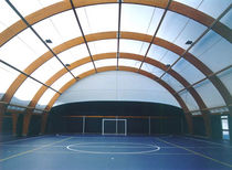 wooden frame supported tensile structure BARACCATURA DI TESTATA EUROPLAST