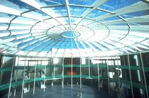 wooden frame supported tensile structure ARCHITECTURAL Haring Engineering Ltd 