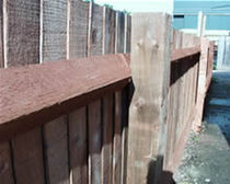 wooden garden fence  Hoppings Softwood Products Plc