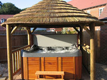 wooden gazebo for hot-tub (thatch roof covering) 3.8M The Lapa Company   The Lapa Company
