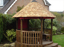 wooden gazebo (thatch roof) 3.2M PREMIUM The Lapa Company   The Lapa Company