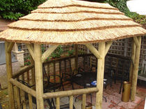 wooden gazebo (thatch roof) 2.8M X 4.5M The Lapa Company   The Lapa Company