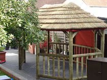 wooden gazebo (thatch roof) 3.2M X 5.0M The Lapa Company   The Lapa Company