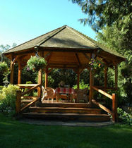 wooden gazebo (tiled covering)  Tyee Timber
