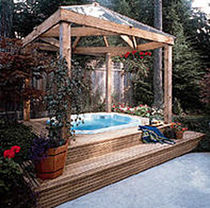 wooden pergola TIMBERS & LANDSCAPE Western Red Cedar Export Association