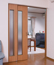wooden pocket double door SRW Sugatsune