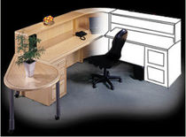 wooden reception desk CLASSIC Jesper Office