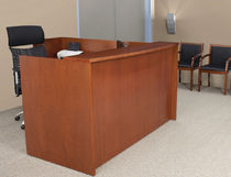 wooden reception desk METROPOLIS Regency, Inc.