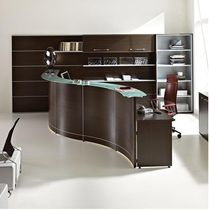 wooden reception desk VOLTA-8V MCE Design