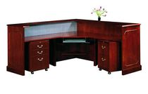 wooden reception desk  Jasper Desk Company