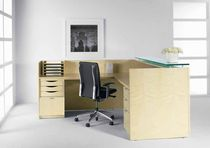 wooden reception desk ATTACHE by Rottet and Riveire Halcon