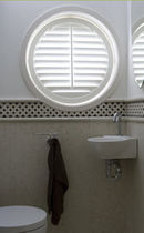 wooden round window  JASNO SHUTTERS
