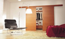 wooden sliding door for walk-in wardrobe  Falegnami