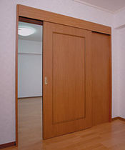 wooden sliding interior door SRS Sugatsune