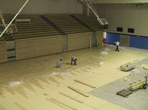 wooden sports floor for multipurpose gyms  No Fault