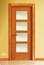 wooden swing door with glass pane LH4VC BAMAR PUERTAS
