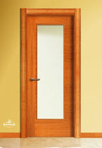 wooden swing door with glass pane LVT1VB BAMAR PUERTAS