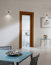 wooden swing door with glass pane LIVIA 1V2001  GAROFOLI