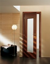 wooden swing door with glass pane PLEIADI SCRIGNO