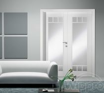 wooden swing door with glass pane CORAL CLASSIC 2 WIPPRO