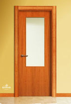 wooden swing door with small window pane LV1VA BAMAR PUERTAS