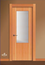 wooden swing door with small window pane GV21VA BAMAR PUERTAS