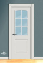 wooden swing door with small window pane BA26V BAMAR PUERTAS