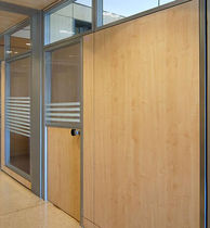 wooden swing door with small window pane  FOSAM