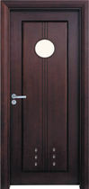 wooden swing door with build-on porthole C01-2 TENGLONG DOOR