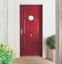 wooden swing door with build-on porthole HERMES Malerba