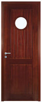 wooden swing door with build-on porthole LA BAULE TRAVERSE DROITE Proboporte