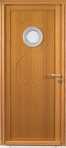 wooden swing door with build-on porthole POLLUX Bignon Menuiseries