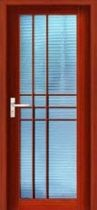 wooden swing door with glass pane G3 Archidec Building Decoration Material