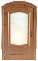 wooden swing door with glass pane  Litex