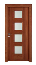 wooden swing door with small window pane 629V AGOPROFIL