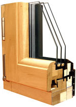 wooden triple glazed casement window MIXTHERM PASSIV Menuiserie David
