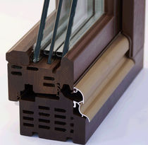 wooden triple glazed casement window BOIS LOGOSS PASSIV Menuiserie David