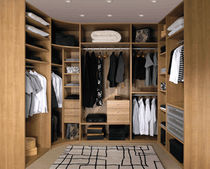 wooden walk-in wardrobe MERISIER ROMANA PORTEA