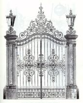 wrought iron garden gate  Efekt-Metal