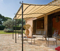 wrought iron pergola (PVC canvas cover) HOSSEGOR Hesperide