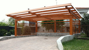 Wooden carport, Wood car port - All architecture and design ...