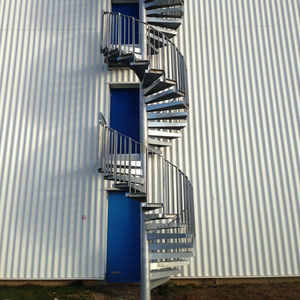 Bon Spiral Staircase / Metal Frame / Metal Steps / Without Risers
