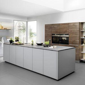 Contemporary Kitchen / Walnut / Laminate / Island