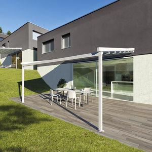 Wall Mounted Pergola Aluminum PVC Fabric Sliding Canopy Custom